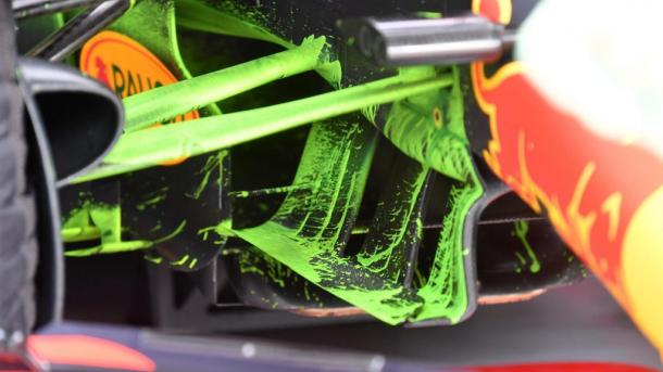 Parafina en el RB14. Foto: F1