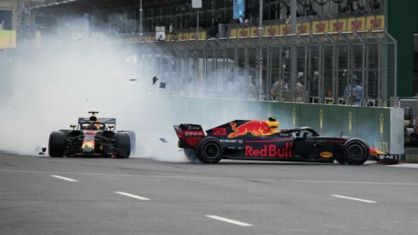 Accidente entre Ricciardo y Verstappen | Foto: Getty Images