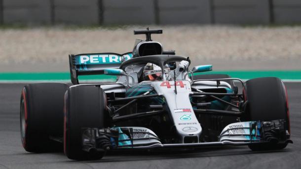 Hamilton tras su 'pole'. Foto: Fórmula 1