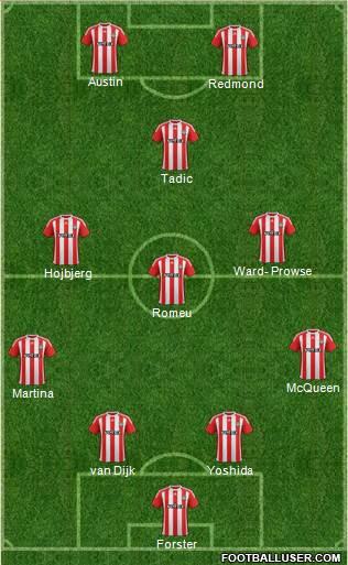 Il probabile 11 del Southampton