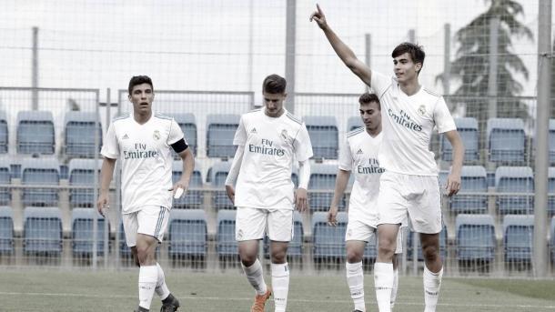 El Juvenil A celebra un gol   Foto: Real Madrid