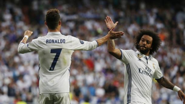 Cristiano Ronaldo y Marcelo. Fuente:  Real Madrid