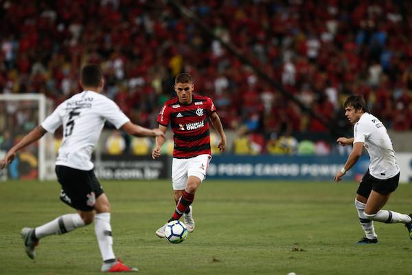 Cuéllar jogou os 90 minutos após defender a Colômbia na terça-feira (Foto: Staff Images/ Flamengo)