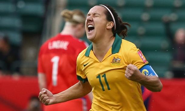 Lisa De Vanna's passion in Canada was absolutely exemplary, not to mention crucial to her team's success. (Photo: Guardian)