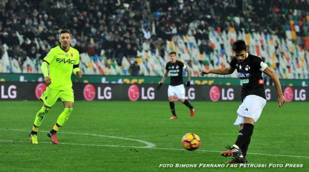 Felipe al centro è tornato a convincere. Fonte: www.facebook.com/UdineseCalcio1896