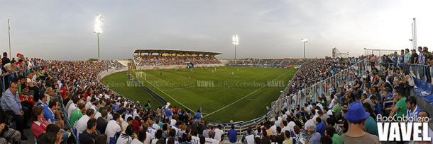 Instantánea tomada de Butarque en un CD Leganés vs. Real Betis (1-0) en el año 2014 | Foto: Apo Caballero, VAVEL España
