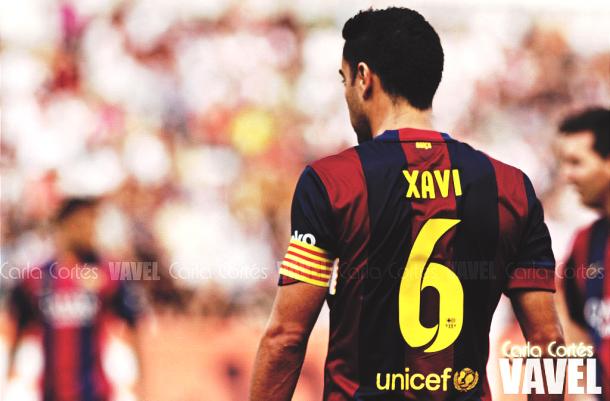 Xavi, en su última temporada como azulgrana. | Foto: Carla Cortés, VAVEL