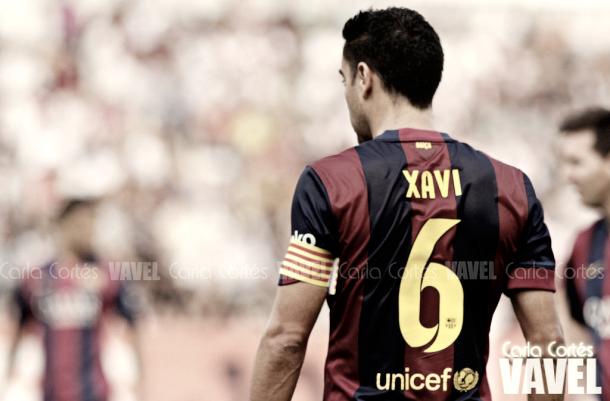 Xavi Hernández durante la temporada 2014/2015. Foto: Carla Cortés, VAVEL.com