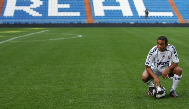 Marcelo en su presentación | Fuente: Real Madrid