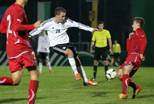 Waldschmidt in action for Germany U17s | Photo: DFB