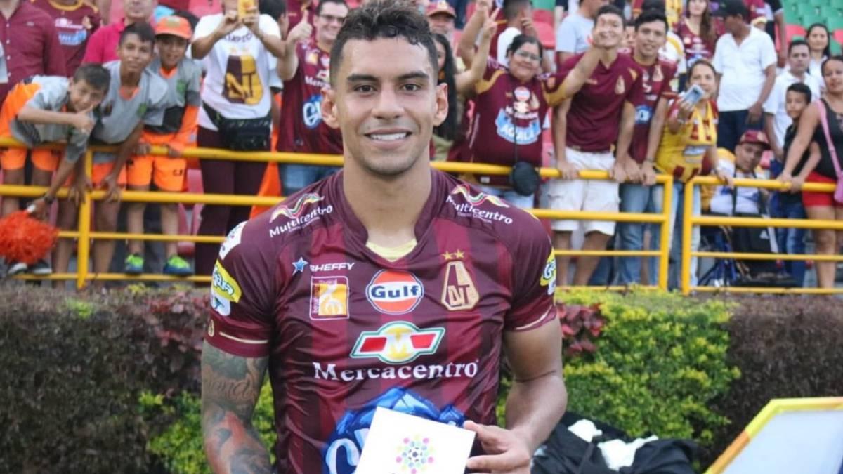 Yeison Gordillo, figura y clave por donde pasa. Imagen: Deportes Tolima.