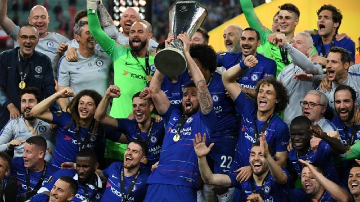 El Chelsea celebrando su Europa League en 2019 / Foto: Chelsea