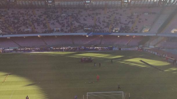 Il cerchio per caricarsi dei giocatori del Napoli.   VAVEL.com