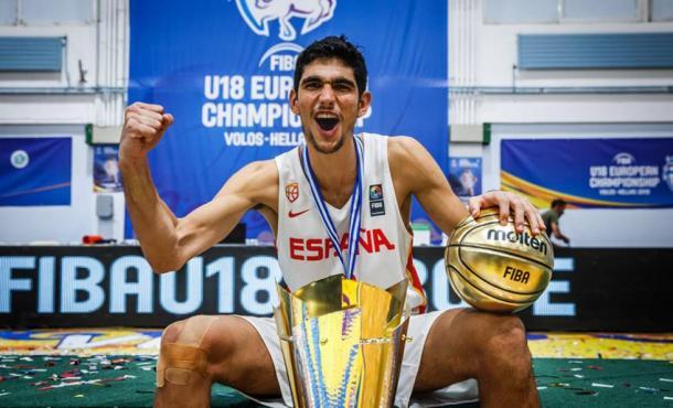 Santi Aldama, MVP y Campeón del Europeo sub-18 celebrado en Grecia | Foto: @santialdama