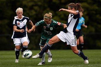 Fishlock and Stott have been teammates in Australia for a long time   Robert Prezioso/Getty Images