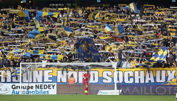 La Tribune Nord Sochaux, premier groupe de supporters actifs du stade - (crédit photo TNS)