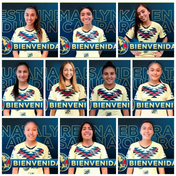 Refuerzos del Club América Femenil | Foto: Club América.