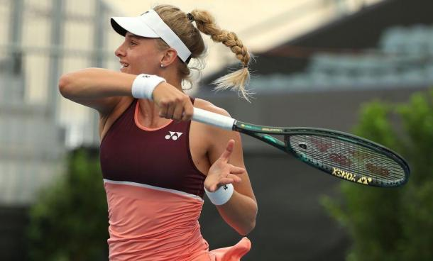 Yastremska once again showcased her incredible power game in a third straight win over Vekic/Photo: Adelaide International official Twitter account
