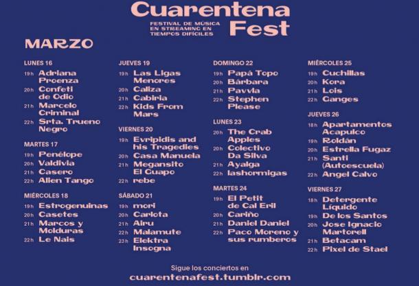 Cartel de Cuarentena Fest+