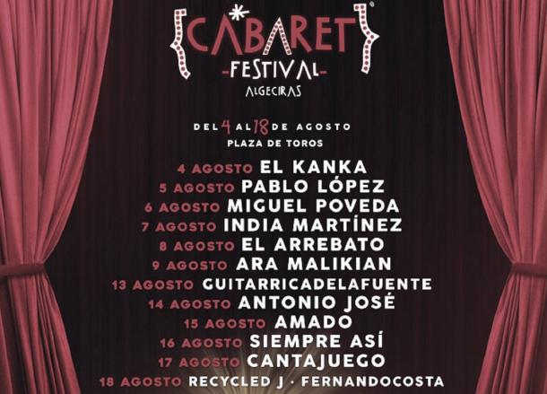Cartel Cabaret festival Algeciras // fuente: cabaret festival (instagram)