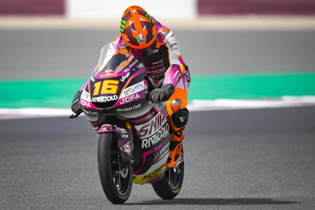 Migno lideró la Q1 y pasó a la Q2 marcando un . Imagen: MotoGP
