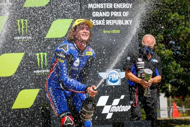 Roberts fue tercero en la República Checa. Imagen: MotoGP