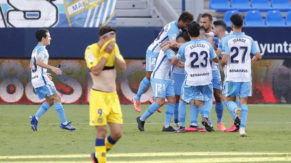 Imagen del último encuentro entre el Málaga y el Alcorcón / Fuente: Málaga CF