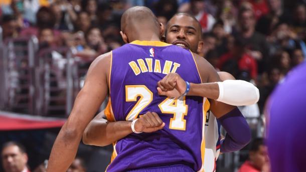 O último duelo entre Kobe e Chris Paul (Foto: Divulgação/NBA)