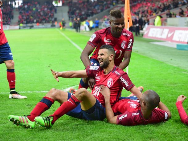 Jugadores del Lille celebrando un gol. FUENTE: losc.fr