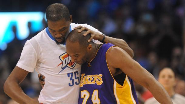 O último duelo entre Durant e Kobe (Foto: Divulgação/NBA)