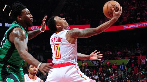 Jeff Teague performed well down the stretch for Atlanta | Photo: NBAE via Getty Images
