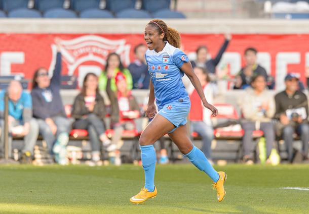 Casey Short scored against the Western New York Flash in Chicago's home opener last season. Source: NWSL Soccer