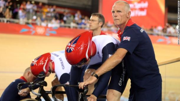 Sutton worked with Chris Hoy and Bradley Wiggins during time with British Cycling. | Photo: Getty Images