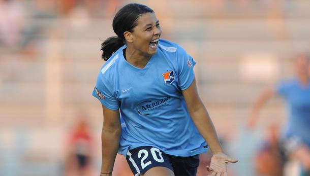 Sam Kerr will look to take her goal scoring exploits onto the international stage | Source: skybluefc.com