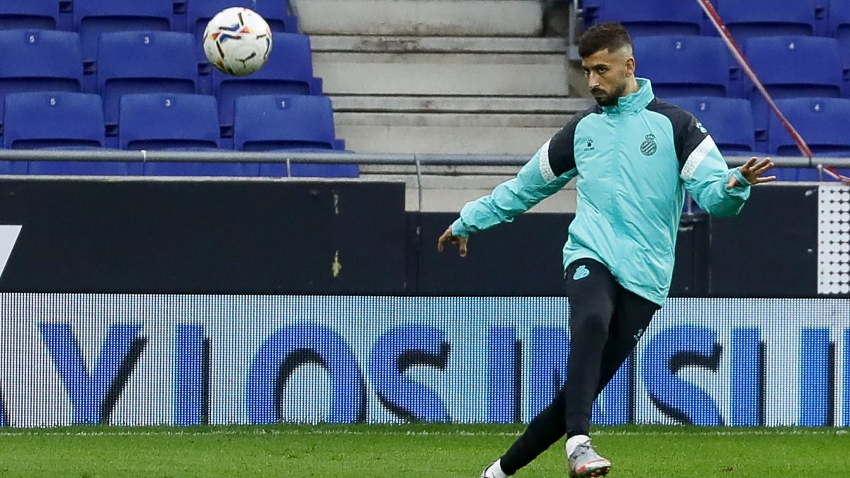 Álvaro Vadillo en un entreno con el Espanyol   Fuente: Gorka Leiza
