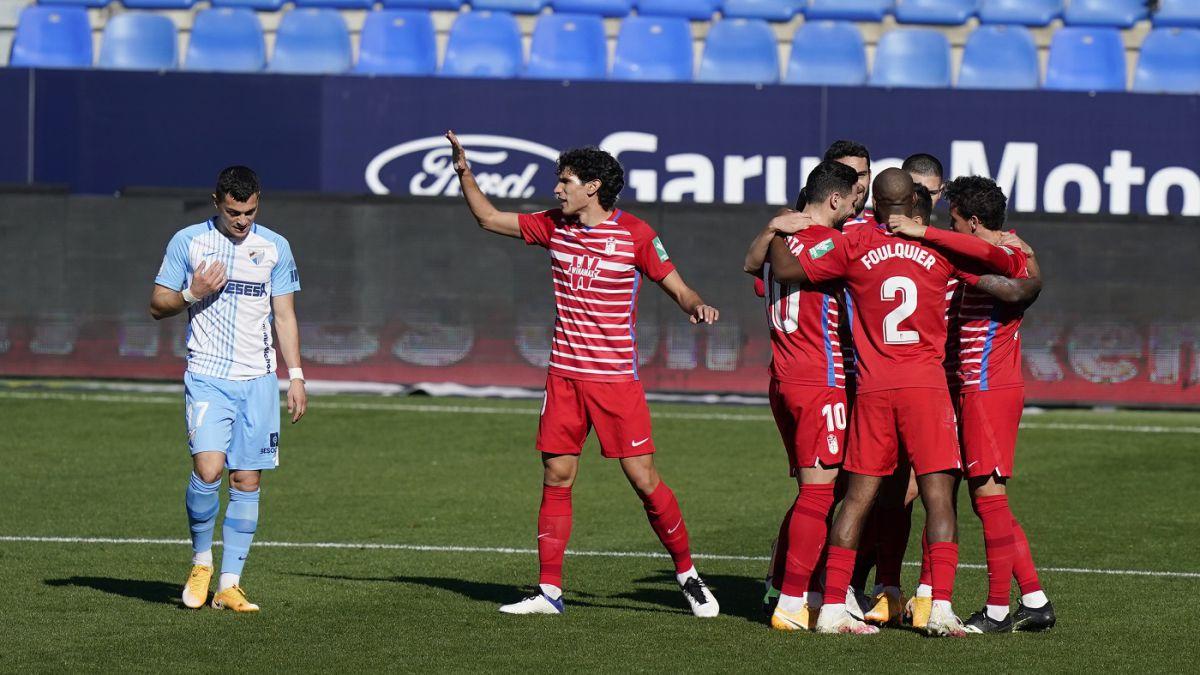 Imagen del último encuentro entre el Málaga CF y el Granada CF / Fuente: Granada CF