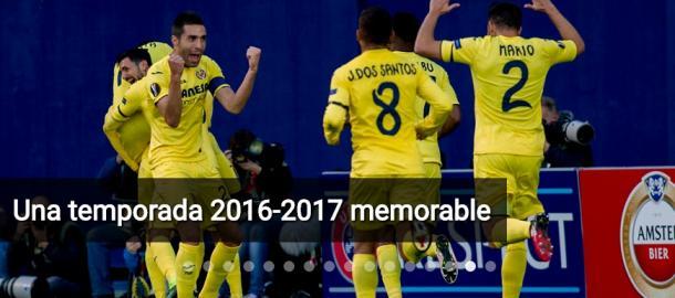 Celebrando uno de los muchos goles que marcaron en la temporada pasada. Fuente: villarrealcf.es