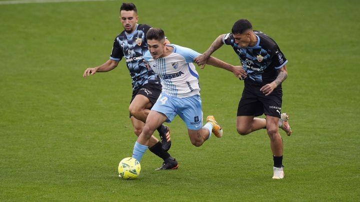 Imagen del encuentro Málaga - Almería de la pasada temporada / Fuente: Málaga CF
