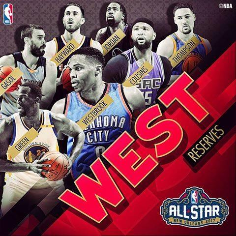 Le riserve per la Western Conference.