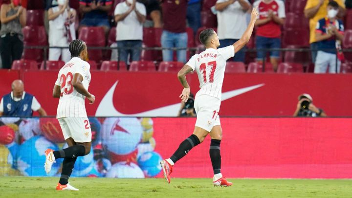 Lamela celebra su gol | Foto: <b><a  data-cke-saved-href='https://vavel.com/es/data/sevilla-fc' href='https://vavel.com/es/data/sevilla-fc'>Sevilla FC</a></b>