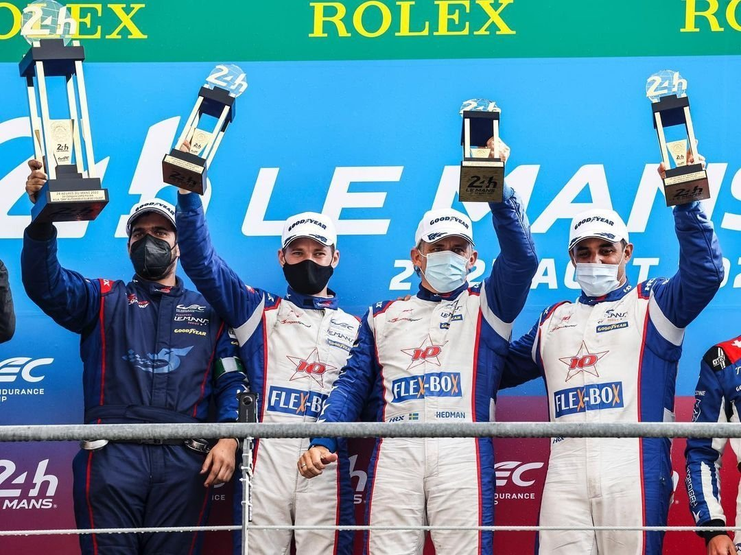 Montoya, campeón de las 24 horas de Le Mans 2021 en la categoría Pro Am. Imagen: Marca.