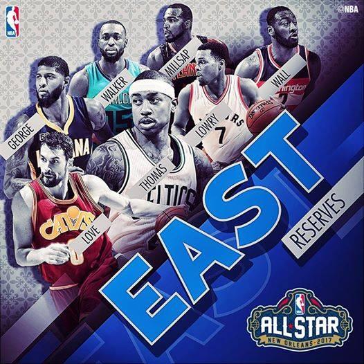 Le riserve per la Eastern Conference