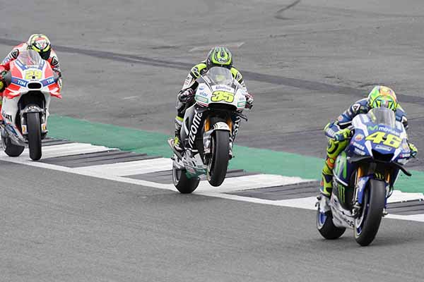Crutchlow wrestled his Honda around his home track - Getty Images