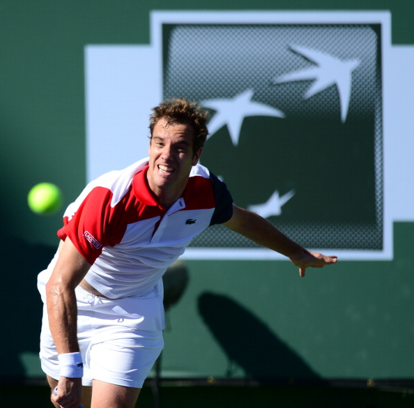 Gasquet serves during his 2013 run in Indian Wells (Photo: Getty Images)