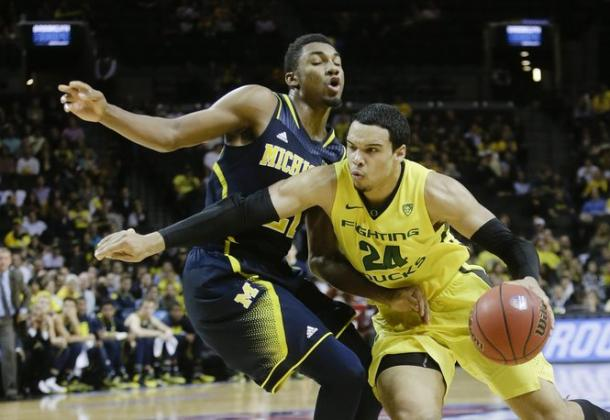 Dillon Brooks (24) has been consistent all year, and leads Oregon in scoring with 16.8 points per game (AP Photo/Frank Franklin II)