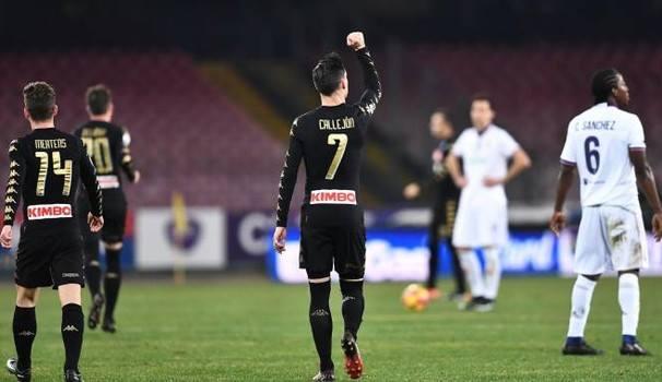 Callejon festeggia la sua marcatura decisiva contro la Fiorentina. | quotidiano.net