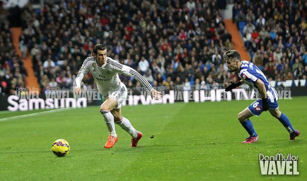 Gareth Bale, en una de las visitas del Deportivo al Bernabéu. Foto: Dani Mullor/VAVEL