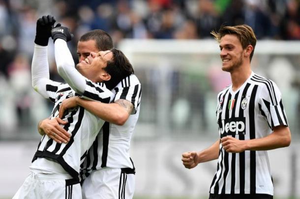 Esultanza di Hernanes al primo goal in bianconero, www.tuttomercatoweb.it