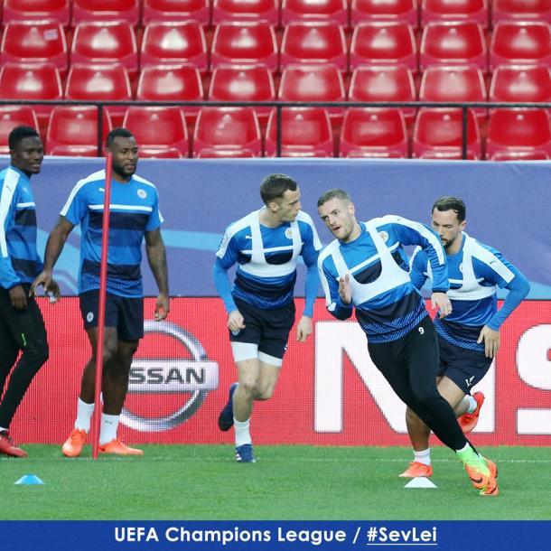 L'allenamento del Leicester