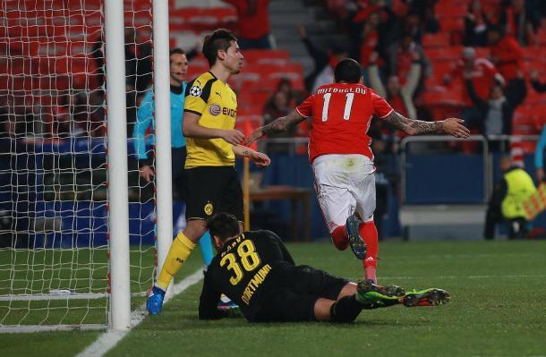 Mitroglou marcou o golo solitário da partida // Foto: Facebook do SL Benfica